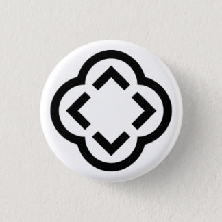 Black and White Shape Button