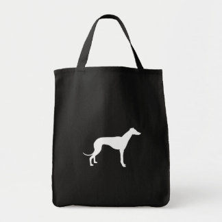 Black and White Shape of Greyhound Tote Bag