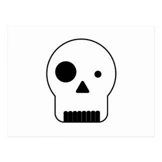 Black and white shape skull.ai postcard