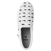 Black and White Shark Slip on Shoes