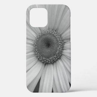 Black and White Shasta Daisy Close Up iPhone 12 Case