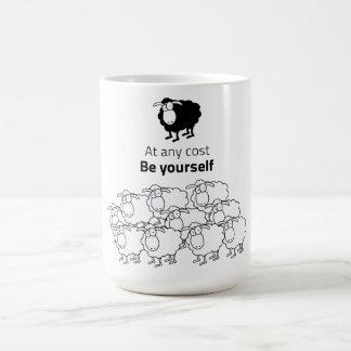 Black and white sheep coffee mug
