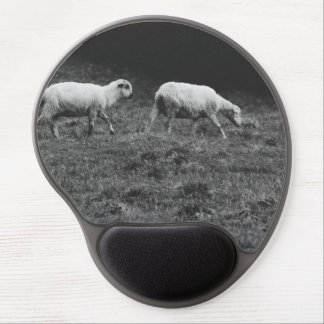 Black and White Sheep In A Pasture Photo Gel Mouse Pad