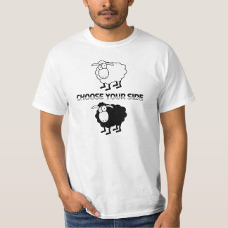 Black and white sheep shirts