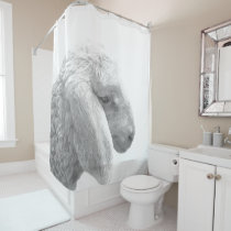 Black and White Sheep Shower Curtain