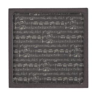 Black And White Sheet Music Gift Box