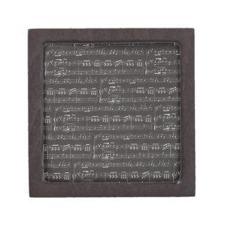 Black And White Sheet Music Keepsake Box