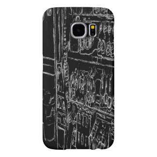 black and white shelf drawing samsung galaxy s6 case