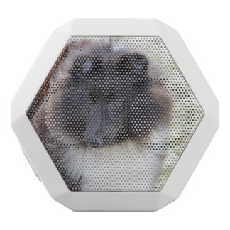 Black and White Sheltie White Bluetooth Speaker