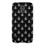 Black and White Ships Anchors Pattern Galaxy Nexus Case