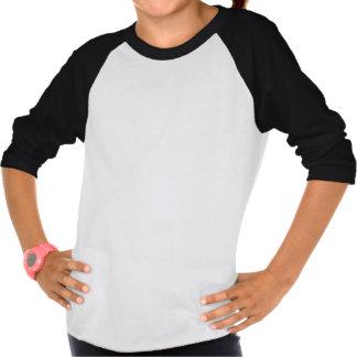 Black and White Shire Horse Girls' Raglan T-Shirt