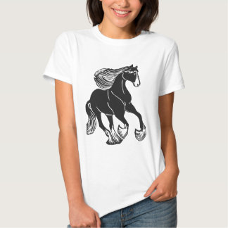 Black and White Shire Horse Women's T-Shirt