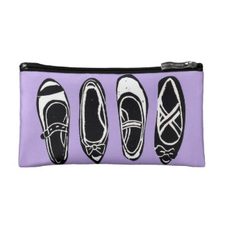 Black and White Shoes Lilac Custom Accessory Bag
