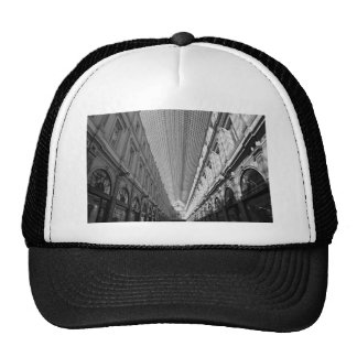 black and white Shopping alley Trucker Hat