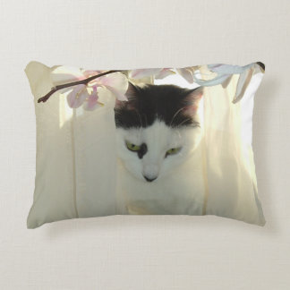 Black and White Short Hair Decorative Pillow