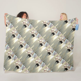 Black and White Short Hair Fleece Blanket