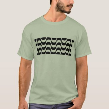Beach Themed Black and white sidewalk from Copacabana T-Shirt