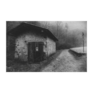Black and White Silent Hill Oil Painting Canvas