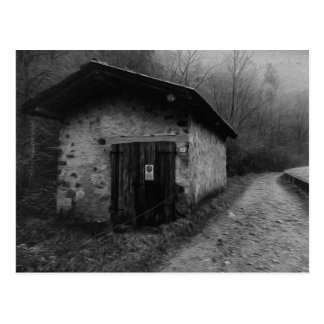 Black and White Silent Hill Oil Painting Postcard