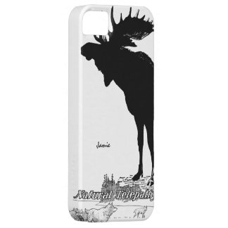 Black and White Silhouette Vintage Moose Wolf iPhone SE/5/5s Case