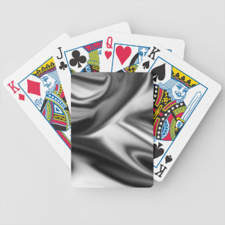 Black and White Silk Folds Bicycle Playing Cards