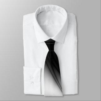 Black and White Silk Look Estuary Neck Tie