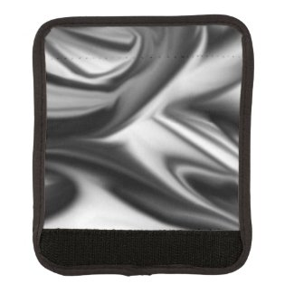 Black and White Silk Luggage Handle Wrap