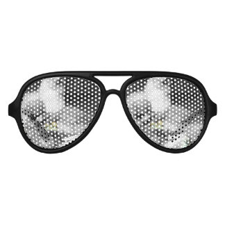 Black and White Silkie Chickens with yellow Chicks Sunglasses