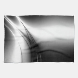 Black and White Silky Look Kitchen Towel