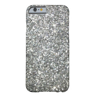 """Black and White """"Silver"""" granite Pattern Barely There iPhone 6 Case"""