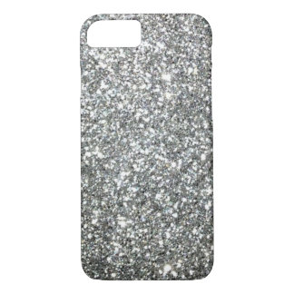 """Black and White """"Silver"""" granite Pattern iPhone 7 Case"""