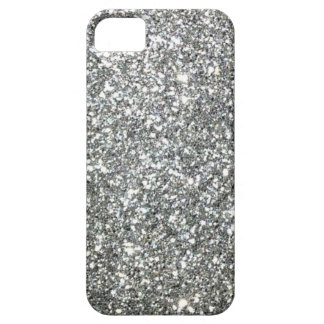 "Black and White ""Silver"" granite Pattern iPhone SE/5/5s Case"