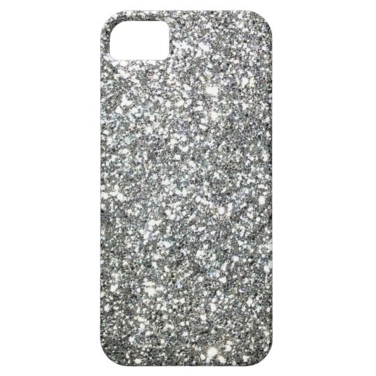 "Black and White ""Silver"" granite Pattern iPhone SE/5/5s Case"