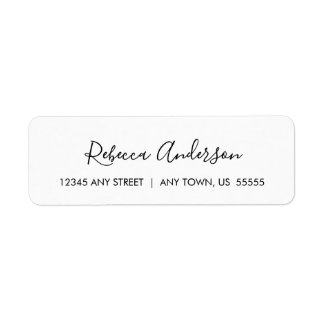 Black and White Simple and Elegant Label