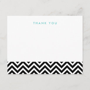 Zig Zag Thank You Cards Zazzle