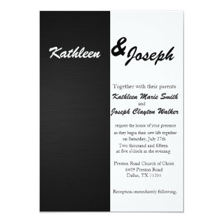 Black and White Simple Chic Wedding Invitation