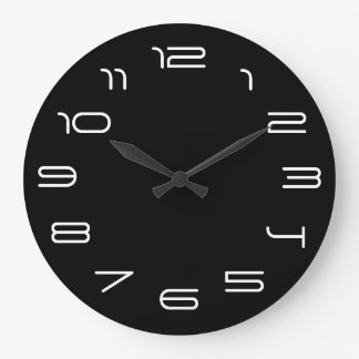 Black and white simplicity large clock