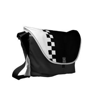 black and white ska checkers courier bags