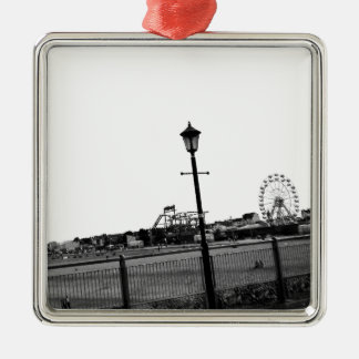 Black and white Skegness pier Metal Ornament