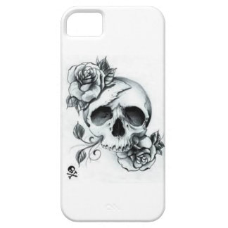 Black and White Sketch Skull Design iPhone SE/5/5s Case