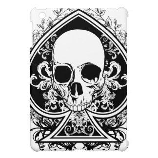 Black and White Skull Ace Cover For The iPad Mini