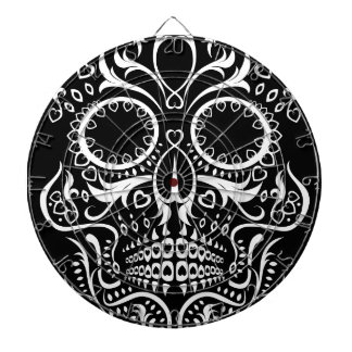 Black and White Skull /  Day of the Dead Dartboard