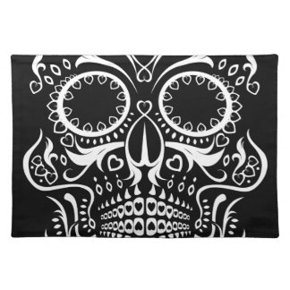 Black and White Skull /  Day of the Dead Placemat