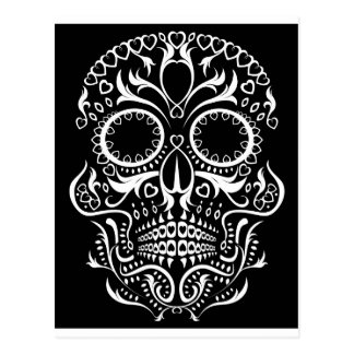 Black and White Skull /  Day of the Dead Postcard