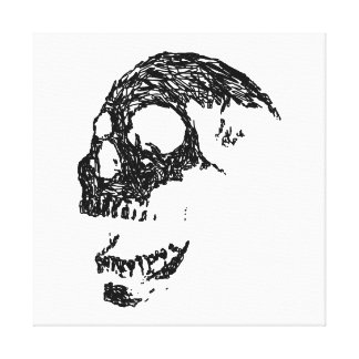 Black and White Skull Design. Canvas Print