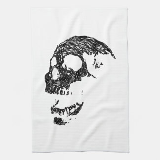 Black and White Skull Design. Hand Towels