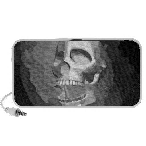 Black and white skull design speakers