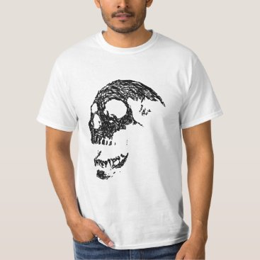 PsyborgAli Black and White Skull Design. T-Shirt