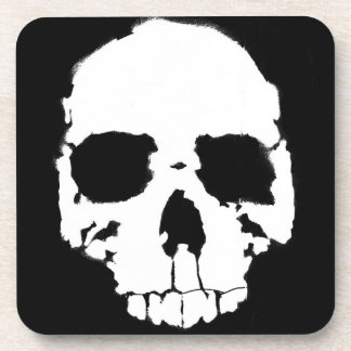 Black and White Skull / Head (1) Coasters