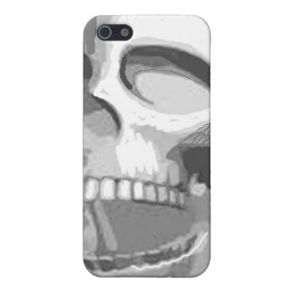 Black and white skull iPhone SE/5/5s cover